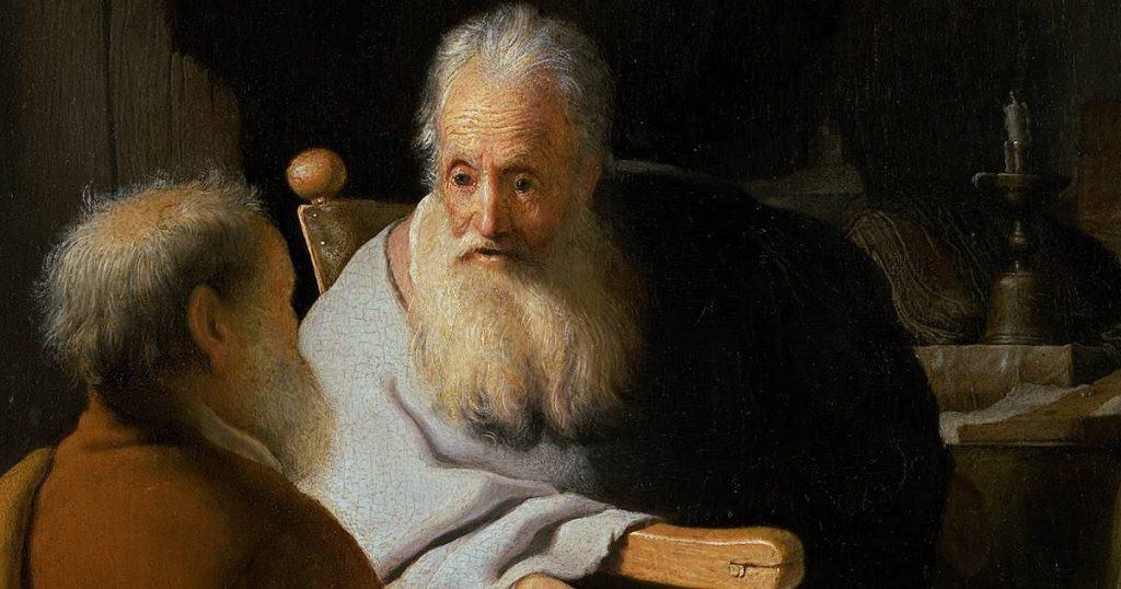 DOS ANCIANOS DISCUTIENDO  1628
