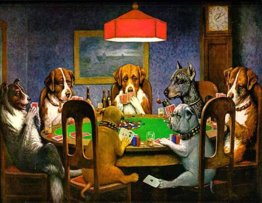 Cassius Marcellus perros poker