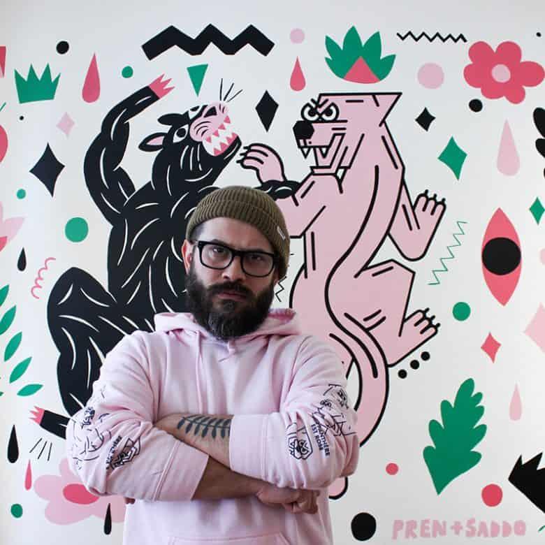 La naturaleza y el arte pop en el mundo del artista Saddo