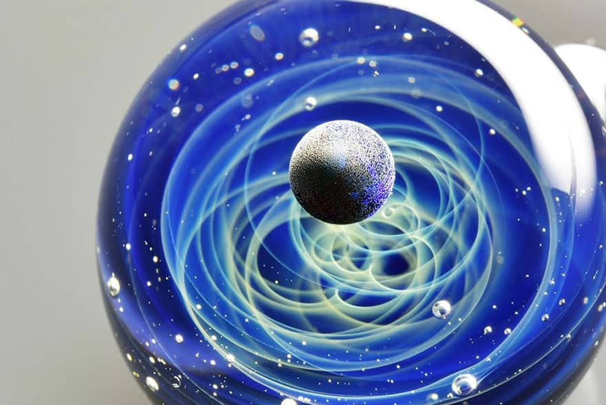 space glass planets galaxies stars pendants satoshi tomizu 22