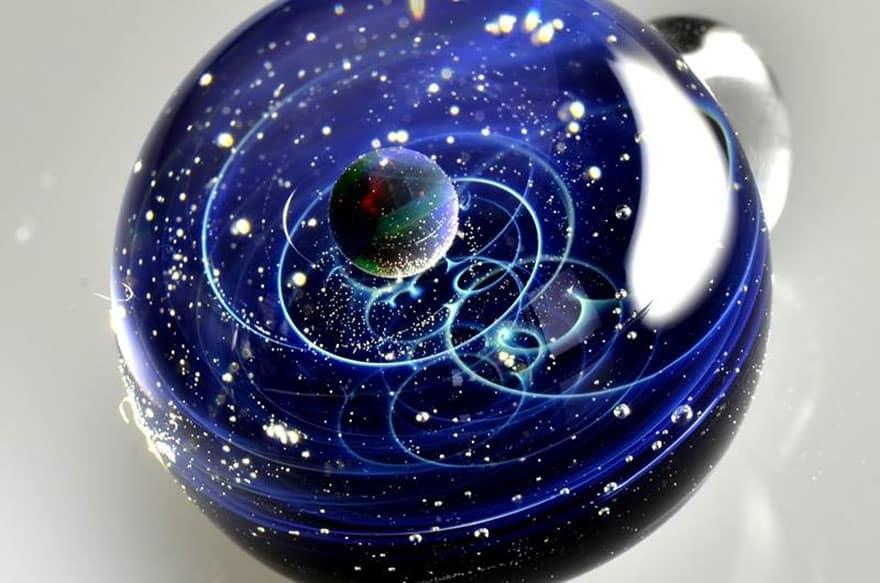 space glass planets galaxies stars pendants satoshi tomizu 25