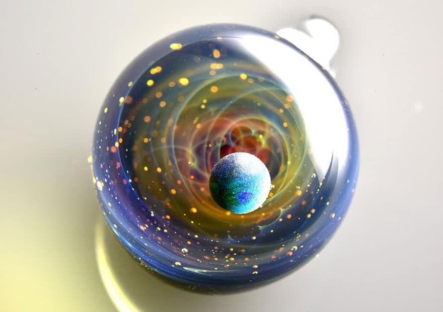 space glass planets galaxies stars pendants satoshi tomizu 8