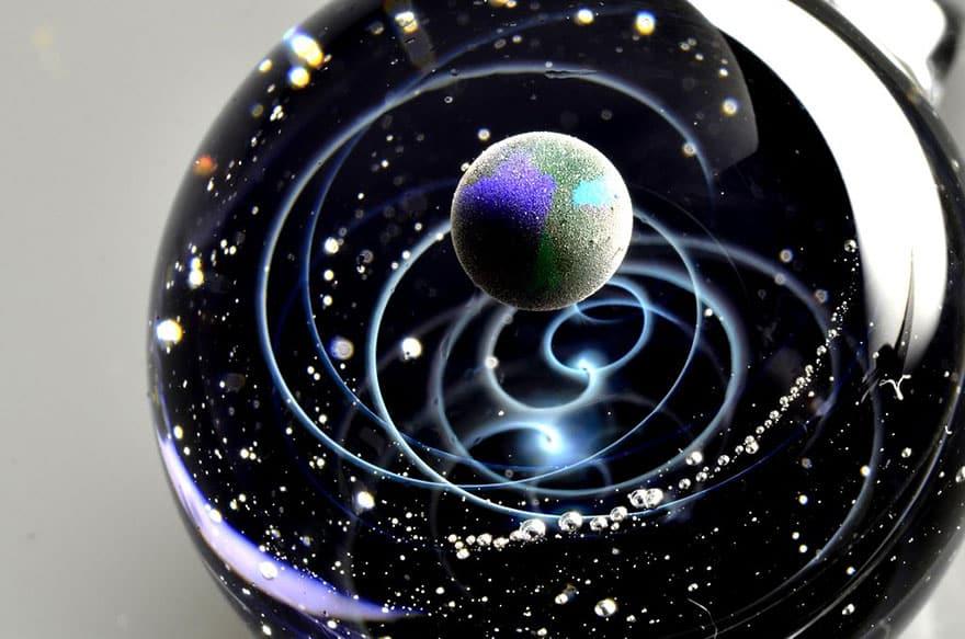 space glass planets galaxies stars pendants satoshi tomizu 9